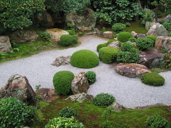 Karesansui rocks into water about maui nui for Japanese water garden design